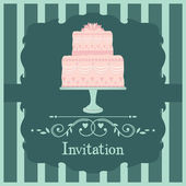 粉红色婚礼蛋糕 — 图库矢量图片