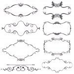 Vector decorative design elements — Stock Vector