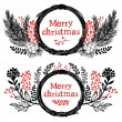 Merry christmas design elements — Stock Vector