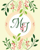 M&J wedding invitation — Stock Vector