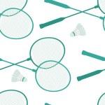 Badminton background — Stock Vector