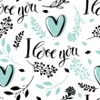 I love you background — Imagens vectoriais em stock