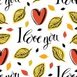 I love you pattern — Stock Vector