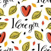 I love you pattern — Vettoriale Stock