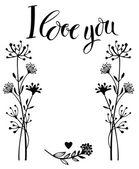 I love you card — Stock Vector