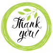 Thank you card — Vector de stock #30619917