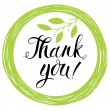 Thank you card — Imagen vectorial