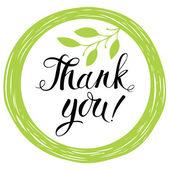 открытка с благодарностями — Cтоковый вектор