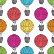 Old Hot Air Balloons — Vector de stock #30855929