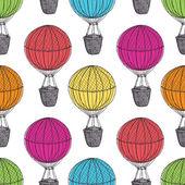 Old Hot Air Balloons — Stock Vector