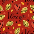 I love you background — Grafika wektorowa
