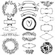 Vector decorative design elements set — Stock Vector