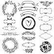 Stock Vector: Vector decorative design elements set