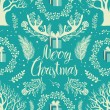 Merry Christmas White trees background — Stock Vector #34038589