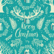 Merry Christmas White trees background — Stock Vector