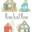 Stock Vector: Home sweet home