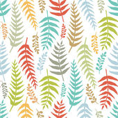 Fern colorful seamless background — Vector de stock