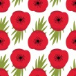 Stock Vector: Remembrance Day, Seamless pattern with red poppies