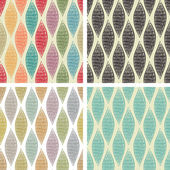 Set of seamless abstract patterns — Stock Vector