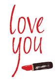 Älskar du designa kort med ett rött läppstift — Stockvektor