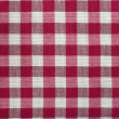 Red checked fabric — 图库照片