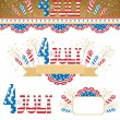 4th July elements — Stock Vector