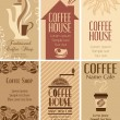 Set of coffee business cards — Stock Vector #25962147