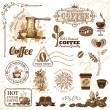Stock Vector: Coffee design elements