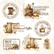 Set of coffee design elements — Stock Vector #25962211