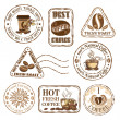 Set of coffee stamps — Stock Vector #25962217