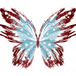 Grunge American Butterfly — Stock Vector #25962461