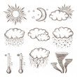 Royalty-Free Stock Imagen vectorial: Hand drawn weather icons