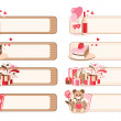 Set of romantic banners — Stock Vector