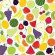 Multifruit pattern — Stock Vector