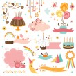 Stock Vector: Set of celebration design elements