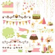 Set of celebration design elements - Imagens vectoriais em stock