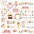 Set of celebration design elements - Stock Vector