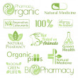 Set of organic medicine symbols — Stock Vector