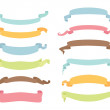 Stock Vector: Set of ribbons