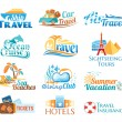 Travel icons (vector in cmyk colors) — Stock Vector #25965885