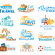 Travel icons (vector in cmyk colors) — Stock Vector