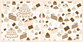Set of sweets backgrounds (seamless patterns) — Stock Vector