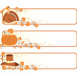 Stock Vector: Thanksgiving banners