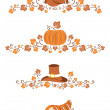 Thanksgiving design elements — Stock Vector