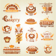 Set of bakery design elements — Stock Vector