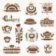 Stock Vector: Set of bakery design elements