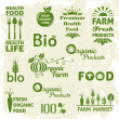 Set of organic food logo — Stock Vector