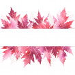 autumn leaves banner — Stock Photo