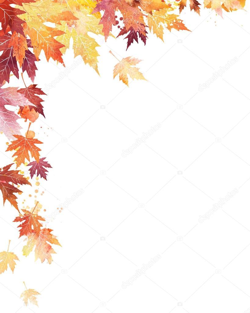 Fall Leaf Border Corner Related Keywords - Fall Leaf ...