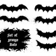 Set of grunge bats — Stock Vector